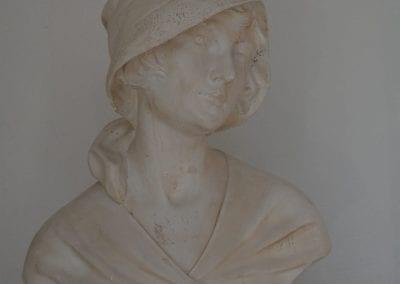Engelse massief gips gegoten buste