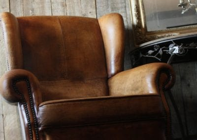 Schapenleren oor fauteuil