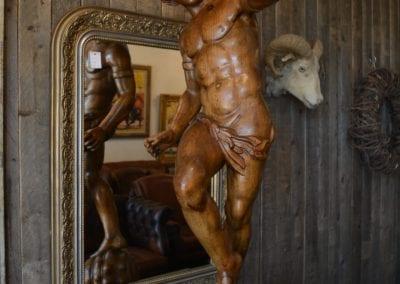 Griekse god van het woud, Pan (notenhout)