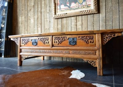 Chinese salon tafel Afmetingen: L 168 X B 70 X H 50 CM
