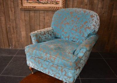 Engelse stoffen fauteuil (Art Forma)